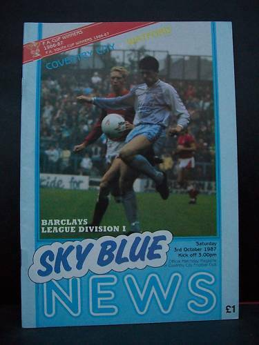 Programme, Coventry City v Watford, 03.10.87, Division1