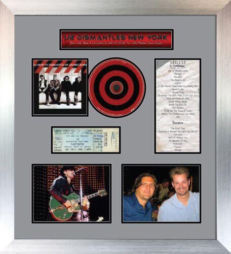 Billet de concert CD Et Couvercle Affichage Cadre avec photos et titre Gris Mount
