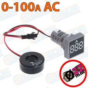 Amperimetro-Digital-Panel-0-100A-22mm-BLANCO-pinza-no-invasivo-LED