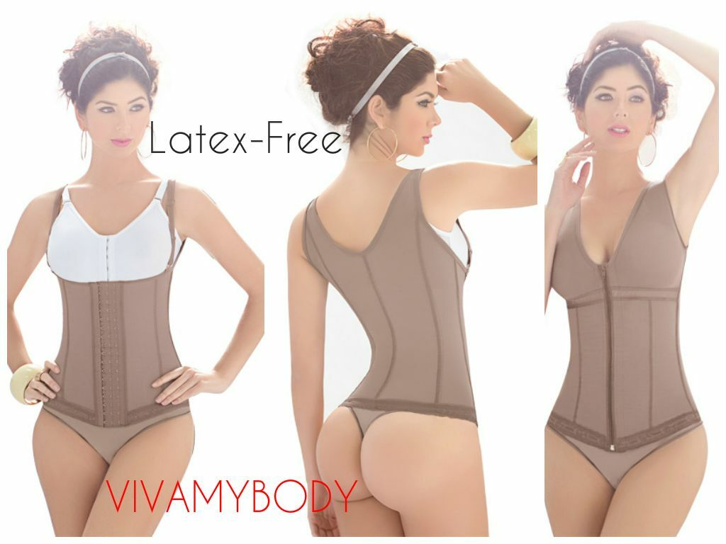 Latex Free Compression Slimming Vest -Abdominal Girdle Daily use Powernet Faja