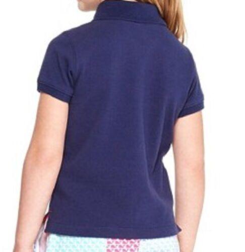 Vineyard Vines x Target Girls Classic Cotton Short Sleeve Polo Shirts Navy NWT