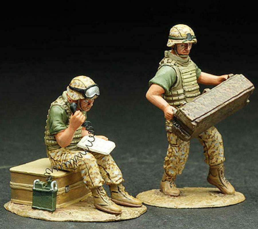 Figarti Miniatures IRQ-007  More USMC Artillery Support  Two 60mm Americans