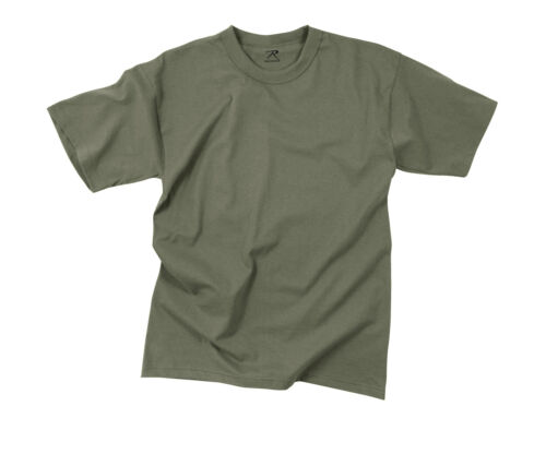 Foliage Green Rothco 6370 Solid Color 100/% Cotton T-Shirt