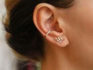 Diamant-Ohrstecker-Paar-Ohrringe-30-Diamanten-0-15-Carat-VS-585er-14K-Gold-Blatt
