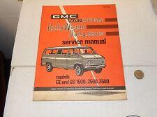 GM 71 GMC VAN FACTORY SERVICE MANUAL VANDURA RALLY WAGON RALLY STX GE GS