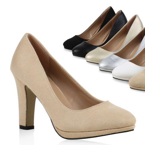 Klassische Damen Pumps Business High Heels Schuhe 813582 Trendy