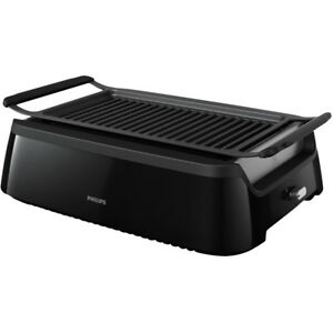 Philips Avance Collection Smokeless Indoor Electric Grill Black ...
