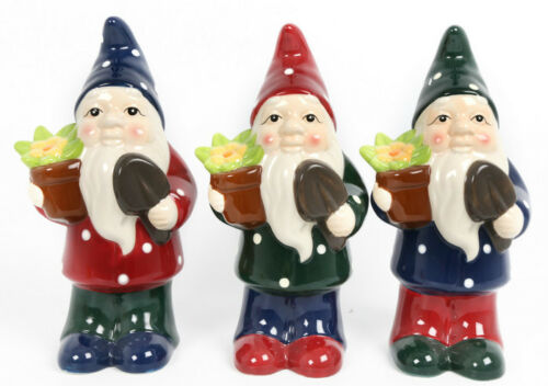 GARDEN ORNAMENT GNOME GARDEN DECORATION GNOMES OUTDOOR 29CM IDEAL FOR GIFT NEW