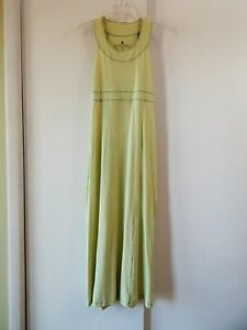 womens-green-THE-TERRITORY-AHEAD-dress-maxi-sleeveless-cotton-blend-casual-XS
