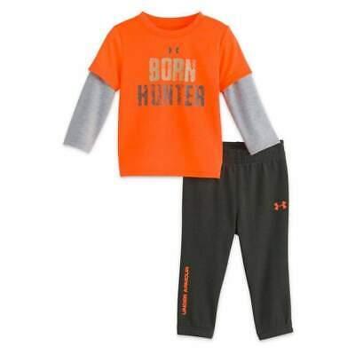 6c50115d0c Under Armour Boys Born Hunter Shirt and Pants Set 18 Months Magma ...