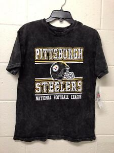 NWT  50 NFL Youth Kids Pittsburgh Steelers Black Football fan T ... 855cad705