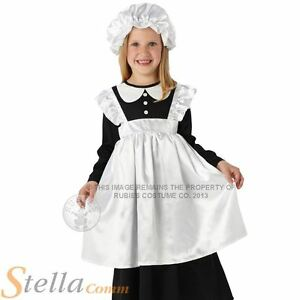 Girl-039-s-Victorian-Maid-Fancy-Dress-Costume-Book-Week-Tudor-Child-Edwardian-Outfit