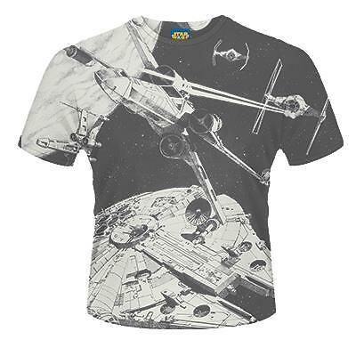 Star Wars Space Battle Die Sub Print T-Shirt Unisex Size Größe L PHM