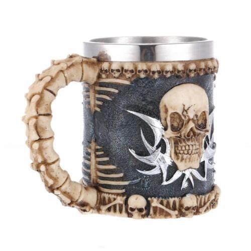 Kreativ Retro Totenkopf Crude Holz Becher Harz Kaffee Bier Pub bar-Party Dekor