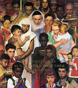 The-Golden-Rule-22x30-Art-Print-by-Norman-Rockwell-inspirational