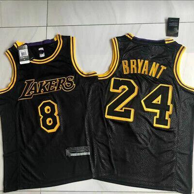 Los Angeles Lakers Kobe Bryant #24 #8 Black Mamba City Edition ...