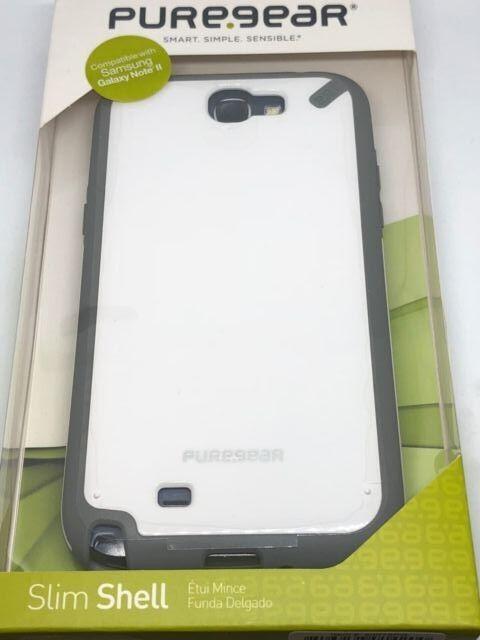 buy online cba81 5563a PureGear 6q10zw1 Slim Shell for Samsung Galaxy Note 2 II Case Flexible Snap