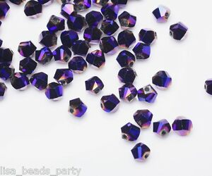 50pcs-6mm-Twist-Helix-Glass-Crystal-Findings-Loose-Spacer-Beads-Purple-Plated