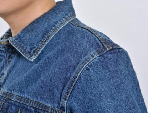 Men/'s Casual Denim Jackets Lapel Overalls Tops Jean Jacket Fashion Coat Outwear