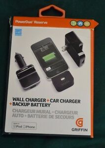 iPhone 5 & 6 - 2x -  Griffin PowerDuo Reserve Car/Wall Charger/Backup Battery
