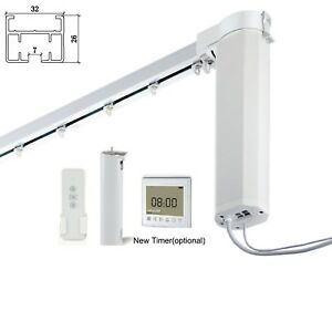 Nuvio Smart Automated WiFi Electric Curtain Rail Alexa Zigbee /& More! Google