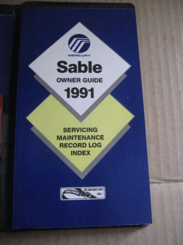 1991 Mercury Sable Owner Guide