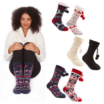 Ladies Women Girls Soft Fluffy Socks Warm Winter Cosy Lounge Bed Socks Fad G UP