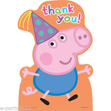 PEPPA PIG THANK YOU NOTES (8) ~ Birthday Party Supplies Stationery Cards Nick Jr