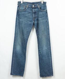 Levis-501-Jeans-Regolare-Dritto-Bottoni-Fly-Uomo-Taglia-W34-L36