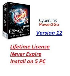 cyberlink power2go iso burn