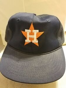 48ba4421 Image is loading Houston-Astros-Vintage-Snapback-Mesh-Trucker-Hat-80s-