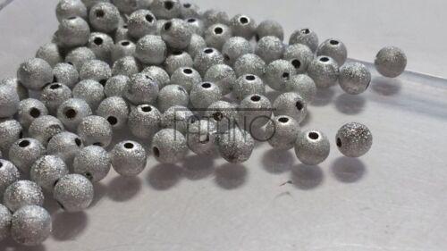 Acryl Perlen Kugel grau silber 100 Stück 6 mm Spacer Basteln Schmuck Basteln R66