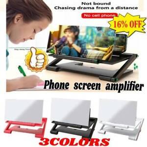 3D Mobile Phone Screen Magnifier HD Video Amplifier Smartphone Stand Bracket Kit