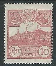 1903 SAN MARINO VEDUTA 10 CENT MH * - M19-9