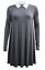 Women-Ladies-Mother-039-s-Day-Peter-Pan-Collar-A-Line-Contrast-Collar-Swing-Dress thumbnail 16