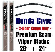 Wiper Blades 2-Pack Premium - fit 2006-2015 Honda Civic 2-Door Coupe - 19280/240