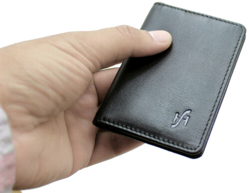 Starhide Ultra Slim Luxury Real Leather Credit Card Wallet RFID Protection #120