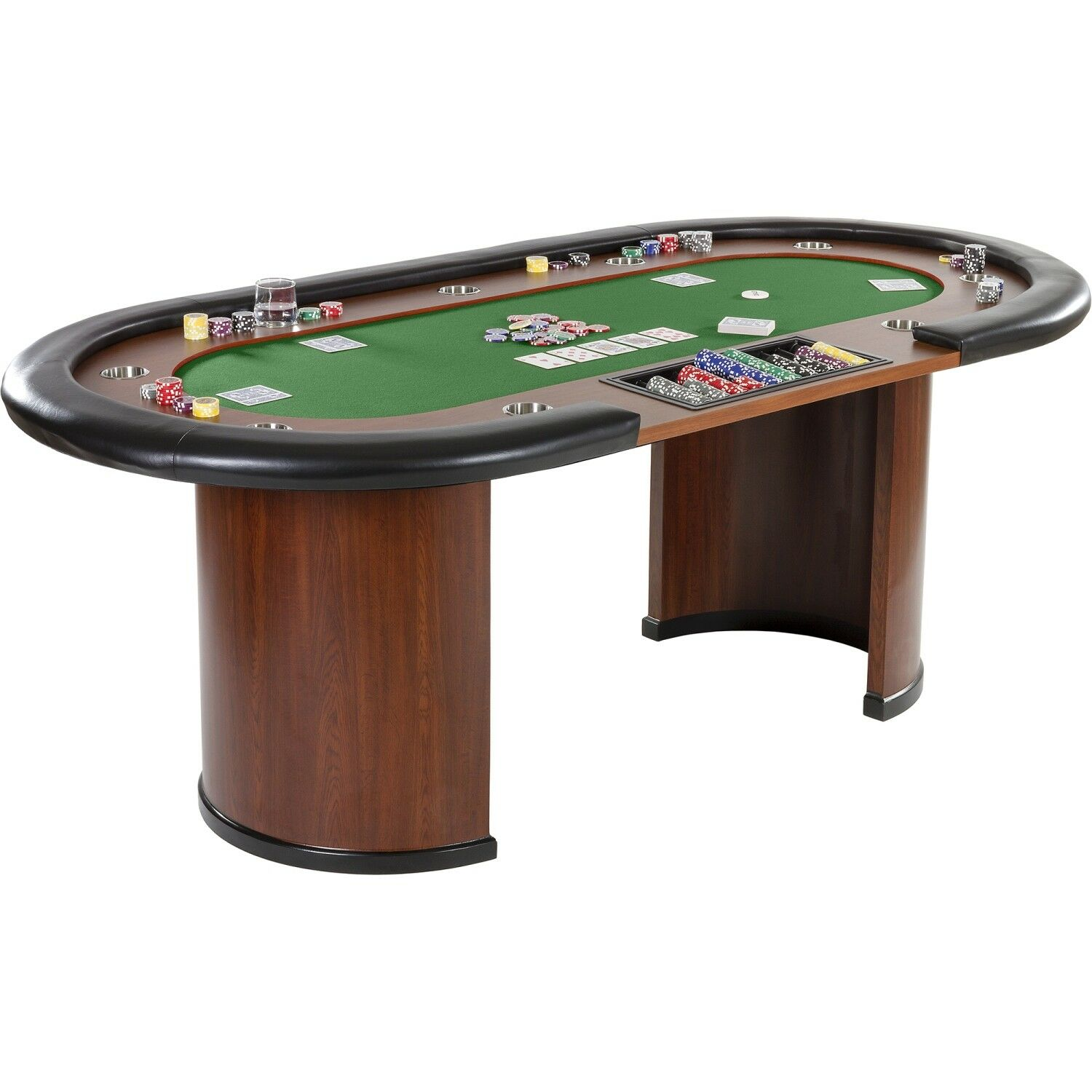 XXL Pokertisch ROYAL FLUSH FLUSH FLUSH Pokertable Casino Poker Tisch Getränkehalter f02e95
