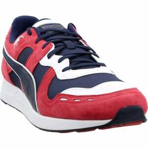 Puma Rs-100 Nubuck Lace Up  Mens  Sneakers Shoes Casual   - Navy - Size 10 D