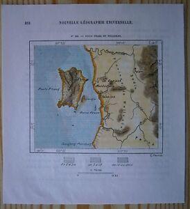 1883-Perron-map-PENANG-ISLAND-amp-PROVINCE-OF-WELLESLEY-SEBERANG-PERAI-MALAYSIA