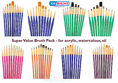 Royal Brush Sable//Camel Short Value Brush Pack