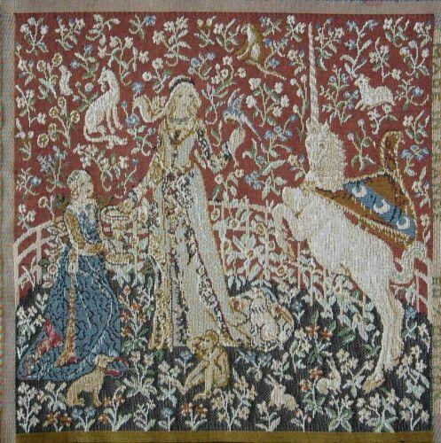 Tissé Tapisserie Panneau-Lady /& LICORNE 23 x 25 cm environ
