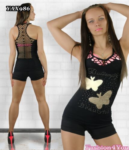 Women/'s Top Mesh Fishnet Summer Ladies Vest Top Casual ONE SIZE 6,8,10 UK New
