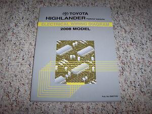 2008 toyota highlander hybrid electrical wiring diagram manual rh ebay com