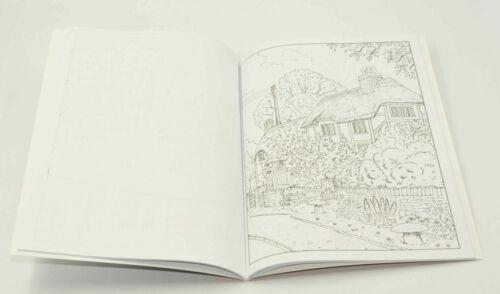 A4 Adulto Anti-stress Casas rurales /& CASTLES Colorante Libro terapéutica alivio de tensión