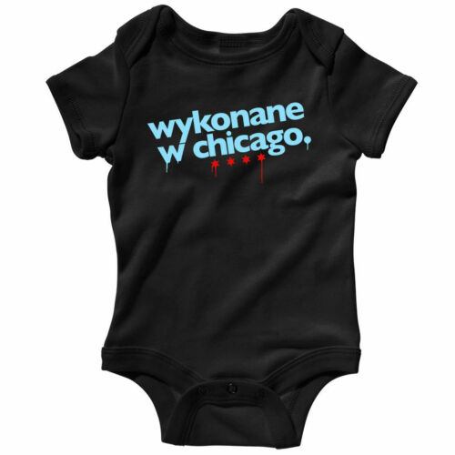 Baby Shirt Infant Creeper Romper Made in Chicago Polish One Piece NB to 24M