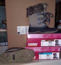 KHOMBU Ladies Grey SLOPE Winter Boots  All Weather & Terrain Waterproof Size 9