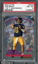 RARE 2000 Fleer Ultra Masterpiece #234M Tom Brady Patriots RC Rookie 1/1 PSA 8