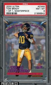 RARE-2000-Fleer-Ultra-Masterpiece-234M-Tom-Brady-Patriots-RC-Rookie-1-1-PSA-8