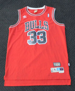 lowest price 9dc63 fb940 Details about Vintage Adidas NBA Chicago Bulls Scottie Pippen #33 Jersey  Size XL.